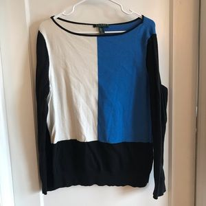 Ralph Lauren blue colorblock sweater XL